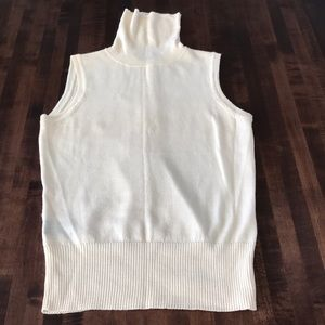 Merino Sleeveless Turtleneck Sweater